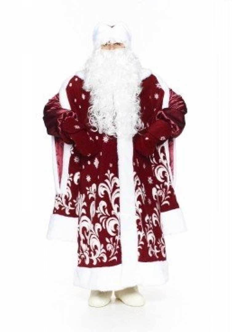 Боярский костюм Деда Мороза в цвете Бордо.