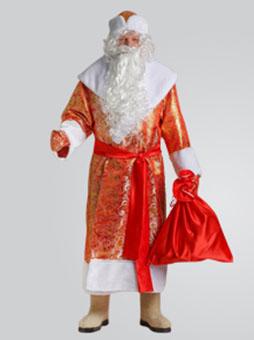 Костюм Деда Мороза Золотой Парчовый