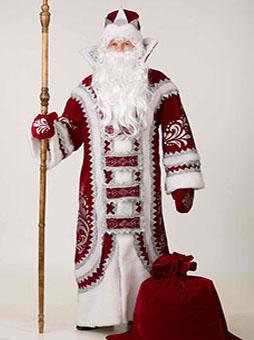 Костюм Деда Мороза Купеческий Бордо