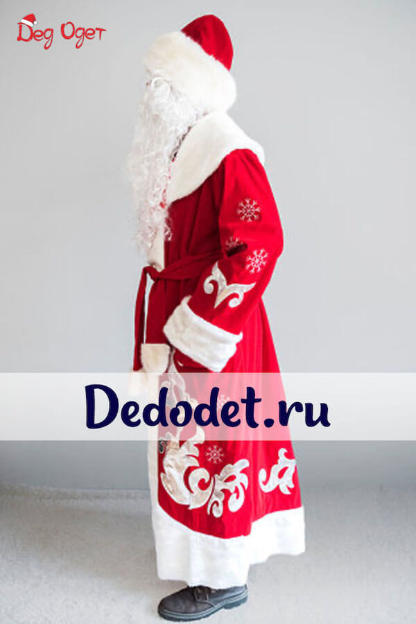 Костюм Деда Мороза Боярский вид сбоку