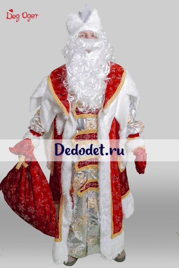Костюм Деда Мороза Королевский вид спереди