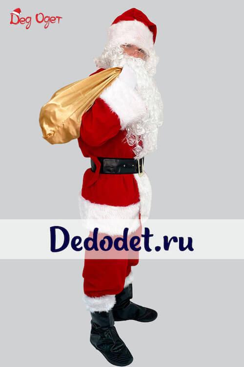 Костюм Санта-Клауса Люкс вид сбоку