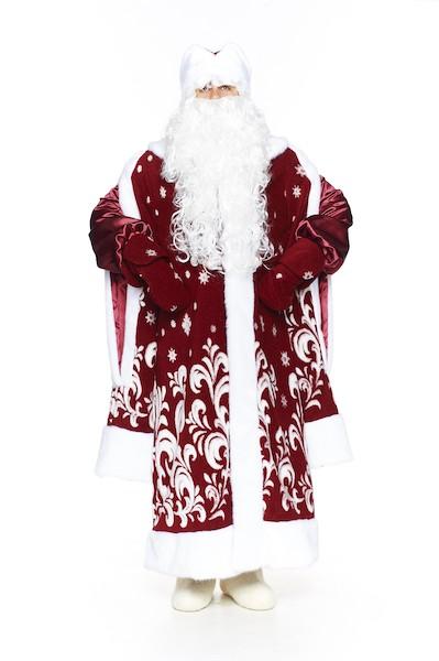 Костюм Деда Мороза Боярский Бордо в Казани