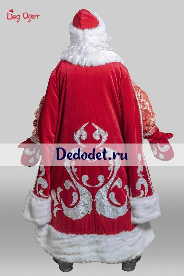 Костюм Деда Мороза Богатый вид со спины