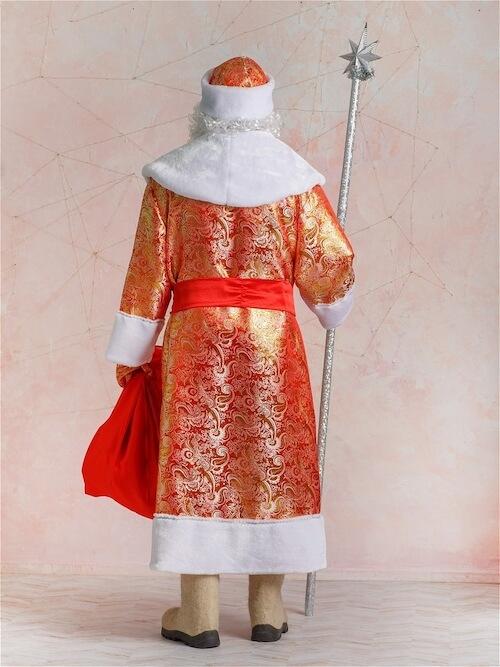 Костюм Деда Мороза Золотой вид сзади