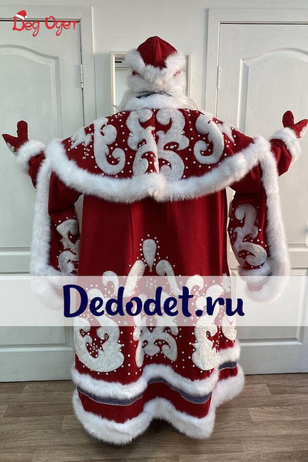 Костюм Деда Мороза ВИП ручной работы вид сзади