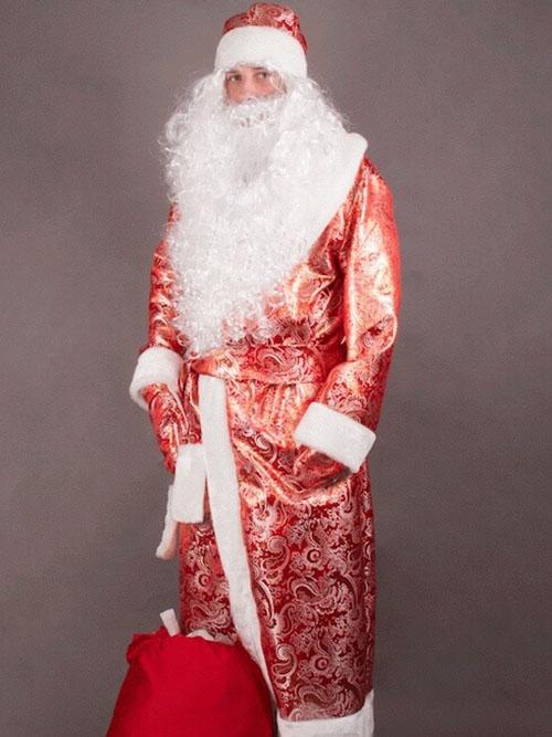 Костюм Деда Мороза Золотой купить недорого