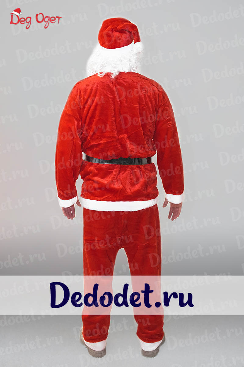 Костюм Санта-Клауса Эконом вид сзади